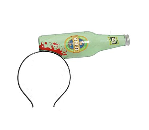 (Creative Home Supplies Halloween Funny Prop Costume Bleeding Headband Horrible Prop Scary Tricky Toy Headband Deserve to Buy (Color : Wine)