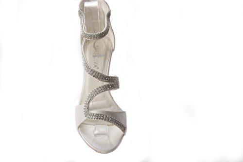 Mojushu - Zapatos de tacón  mujer marfil