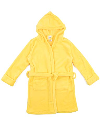 Leveret Kids Fleece Sleep Robe Yellow Size 14 Years
