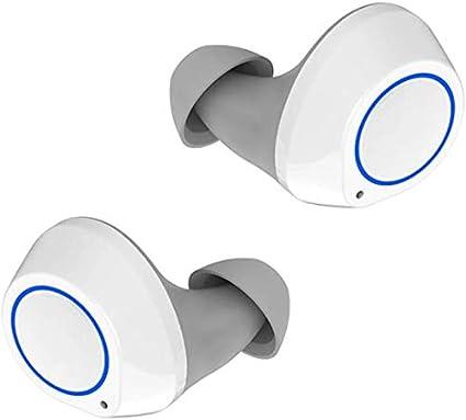 LLDKA K4 Auricular Bluetooth 5.0 Wireless Mini Invisible Verdadero Deporte Corrientes al Aire Libre Electrónica,Blanco
