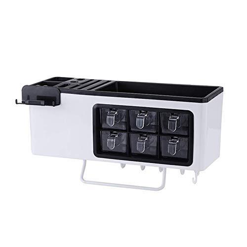 GKPLY Multifunktionsküchen-Gewürzbox, Küchenutensilienhalter mit Ablage, hängende Küchenablage