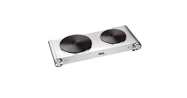 Amazon.com: Nesco DB-02 SS 1800 W doble quemador: Kitchen ...