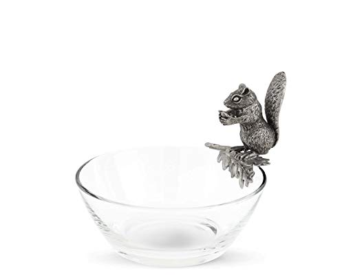 - Vagabond House Glass Nut Bowl with Pewter Perched Squirrel 6