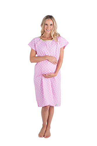 Baby Be Mine Gownies-Labor&Delivery Maternity Hospital Gown,Molly S/M pre Pregnancy 0-10