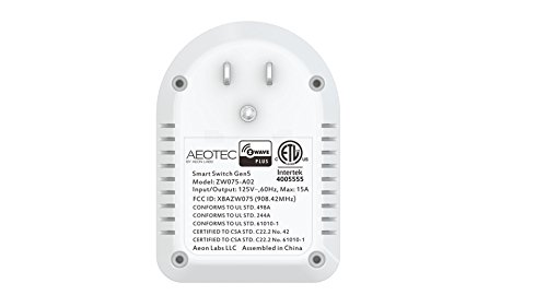 Aeon Labs ZW075-A02 Smart Switch Gen5, White