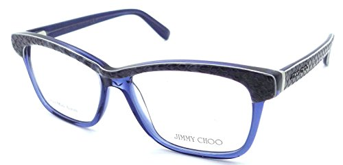 Jimmy Choo Python - Jimmy Choo Rx Eyeglasses Frames JC 98 8ZV 53-15-140 Blue Python Made in Italy