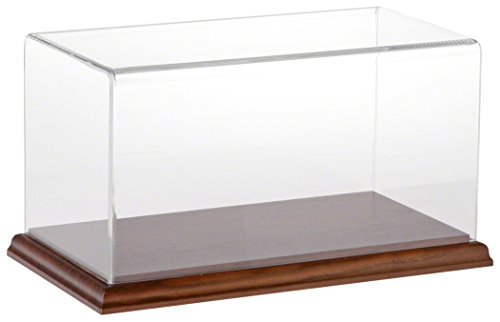 Plymor Brand Clear Acrylic Display Case with Hardwood Base, 10