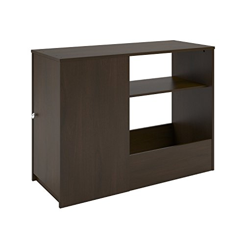 Ameriwood Home Elements Toy Box Bookcase with Door, Dark Cherry ()