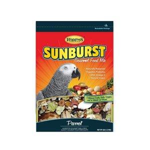 Parrot Food 25 Lb Bag (HIGGINS 466186 Higg Sunburst Food for Parrot, 25-Pound)