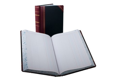 Boorum & Pease 9-500-J Record/account book, black/red cover, journal rule, 14-1/8 x 8-5/8, 500 pages by Boorum & Pease by Boorum & Pease