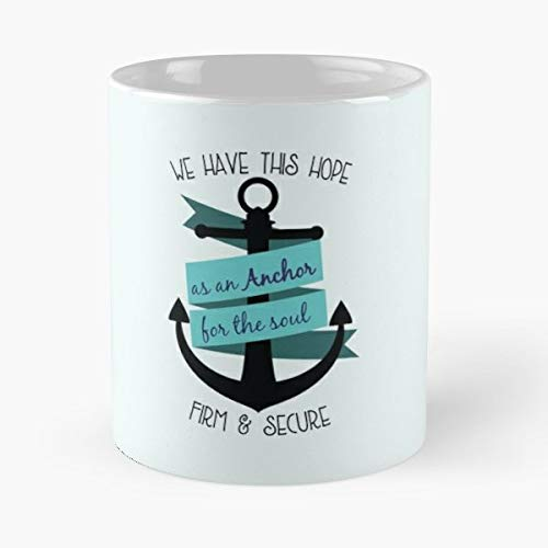Christian T Shirts Designs Hebrews 6 19 -funny Present For My Greatest Boss Male Or Female, Men, Women, Great Office Gift Mugs, Birthday, Leaving, Bold, Cup, 11 Oz