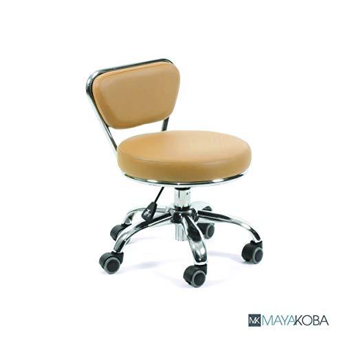 Nail Salon Pedicure Stool Pedicure Chair DAYTON CASHMERE Pneumatic, Adjustable 13″ to 15″, Rolling Salon