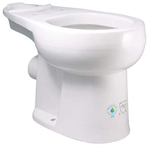 Liberty Pumps - ASCENTII-RW - Toilet Bowl, Floor with Back Outlet Mounting Style, Round, 1.28 Gallons per Flush