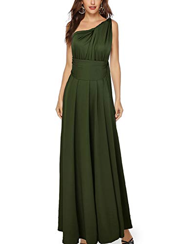 PERSUN Army Green Multi Way Strap Wrap Convertible Maxi Dresses for - Transparency Summer