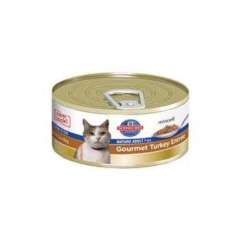 Hills Science Diet Adult 7+ Savory Turkey Entr233-e Canned Cat Food, 5.5