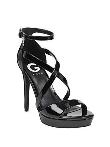 G by GUESS Women's Jessica Strappy Heels (Patent Guess Sandals Leather)
