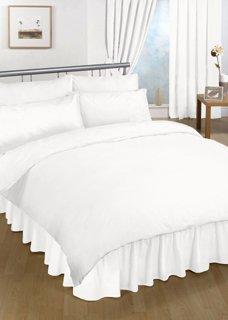 Ein Bettlaken weiß 18 Farben erhältlich, Bettvolant, einfarbig,