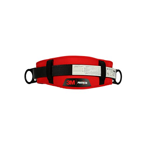 3M Personal Protective Equipment Protecta PRO 1091015 Body Belt with Hip Pad, 2 D-Rings, X-Large (Color May Vary)