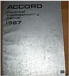 1987 HONDA ACCORD Electrical Wiring Diagrams Manual EWD Single Year Edition  OEM: Honda: Amazon.com: BooksAmazon.com