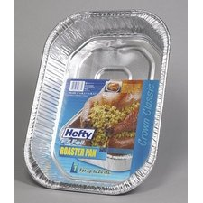 Hefty Roaster Pan Dw Safe 2.875'' Aluminum 600 Deg F