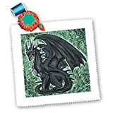 3drose Night Dragon Square Quilt Sheet, 10 by 10-Inch