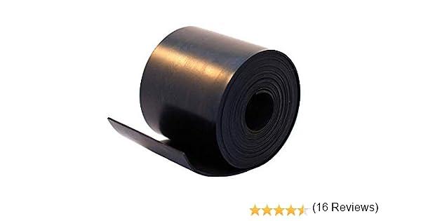 Tira de goma negra de caucho neopreno s/ólido de 15 mm de ancho x 3 mm de grosor x 5 m de largo