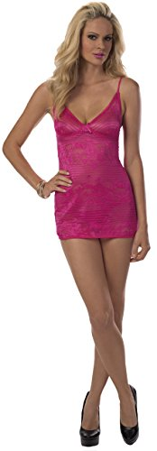 Escante Women's Lace Patterned Chemise, Fuchsia, Medium by Escante