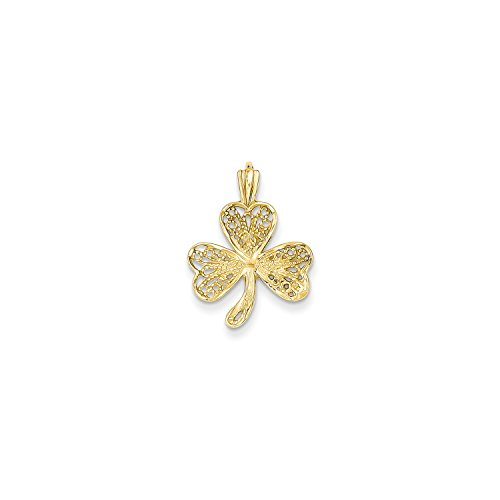 Roy Rose Jewelry 14K Yellow Gold Filigree Shamrock Charm 14k Yellow Gold Shamrock Charm