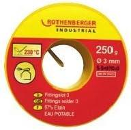 Rothenberger /étain pour soudure raccords eau potable /ø 3 mm 250 g