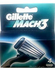 Gíllette Mach 3 Razor Refill Cartridges 4 Count