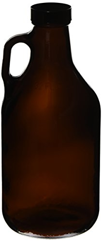 32oz (1 Quart) Glass Growler (1) with poly seal cap by Strange Brew