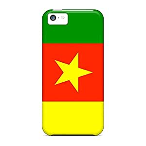 High Quality cell phone skins Skin Cases Covers For Iphone Dirtshock iphone 5c - cameroon flag