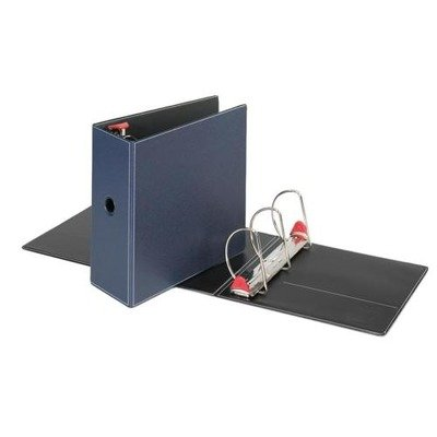 Cardinal Brands, Inc. Locking D-Ring Binder, 5amp;quot; Cap, 11amp;quot;X8-1/2amp;quot, Dark Blue