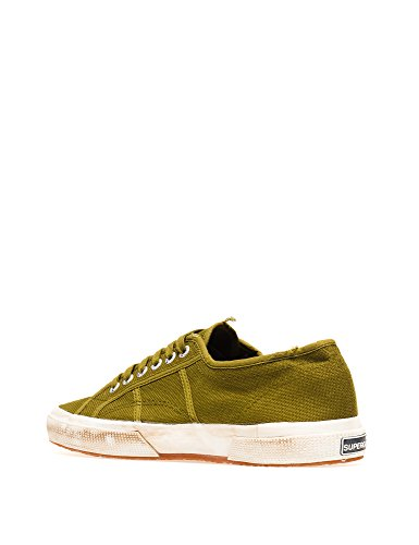 Superga 2750 Cotu Stone Wash, Unisex Adults' Low-Top Sneakers Green Miltary