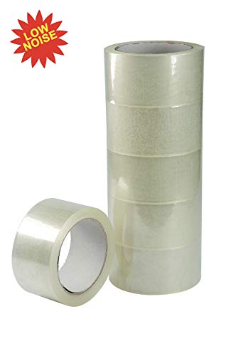 Transparent Adhesive Tape Low Noise mm 50x66 m Conf. Pack of 6.