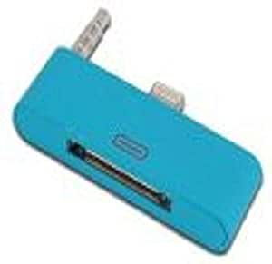 Blue 8 to 30 pin Dock 3.5mm Audio Converter Adapter for iPhone 5 5S 5C ipad mini ipod