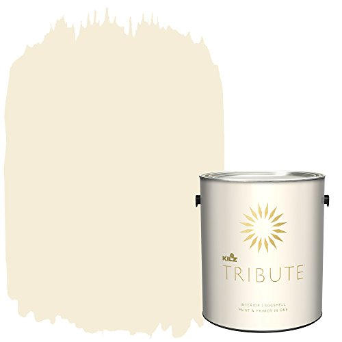 TRIBUTE Interior Eggshell Paint and Primer in One, 1 Gallon, White Peony (TB-04)