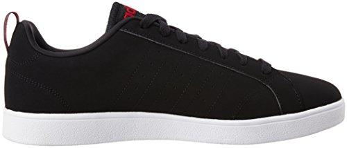 adidas Advantage Vs, Zapatillas de Deporte Exterior para Hombre Negro (Negbas / Azul / Rojpot)