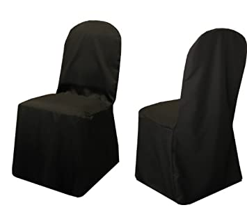 Amazoncom New Pack of 100 Black Wedding Banquet Chair Covers 100
