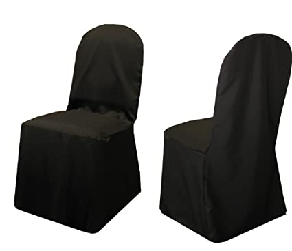 black furniture covers. new pack of (100) black wedding banquet chair covers 100% heavy woven  polyester black furniture covers