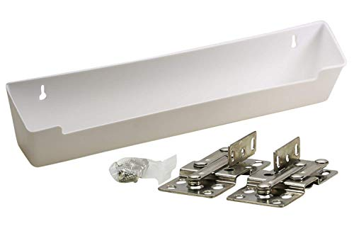 "Hamilton Bowes Sink Front Tip-Out Tray (14-3/4"" with Hinges, White)"