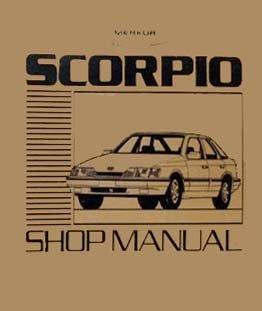 bishko automotive literature 1988 1989 Merkur Scorpio Shop Service Repair Manual Engine Drivetrain Book ()