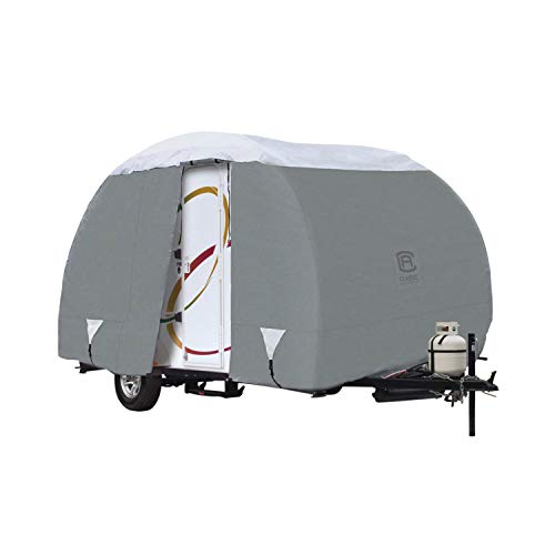 Classic Accessories 80-199-151001-00 Overdrive PolyPro III Deluxe Teardrop R-Pod Travel Trailer Cover, Fits Up To 18' 8