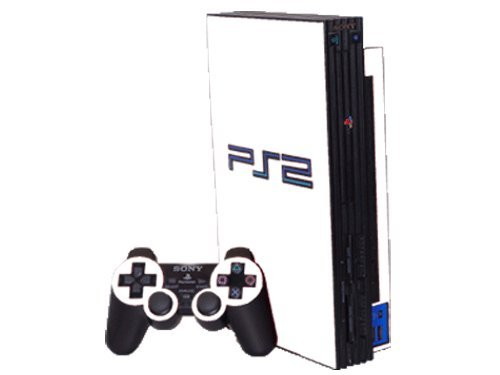 Ps2 White Skin (Sony PlayStation 2 (PS2) Skin - NEW - WINTER WHITE system skins faceplate decal mod)