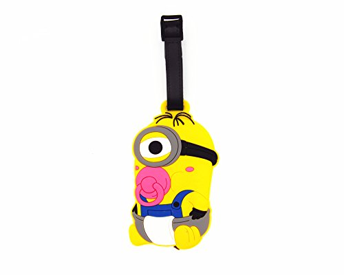 CellDesigns Minion Luggage Tag Suitcase ID Tag with Adjustable Strap (Baby Minion) ()