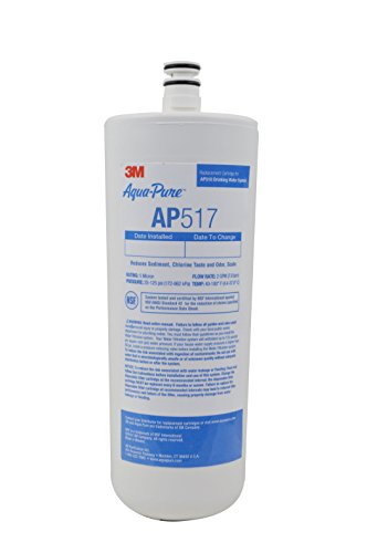 3M Aqua-Unpolluted Under Sink Replacement Water Filter – Model AP517 (Pack of 12)