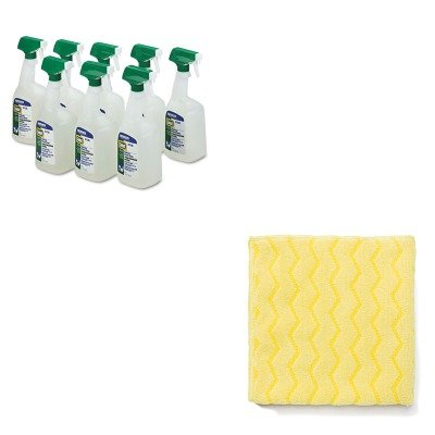 KITPAG22569CTRCPQ610 - Value Kit - Rubbermaid Reusable Cleaning Cloths (RCPQ610) and Procter amp; Gamble Professional Disinfectant Bath Cleaner (PAG22569CT)