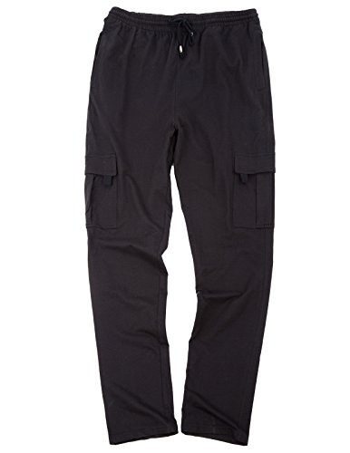 PAUL JONES Men's Cargo Pants Trousers Stylish Multi-Pockets Cotton Sweatpants Cargo Dress