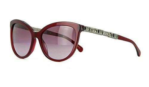 Chanel - Gafas de sol - para mujer morado granate: Amazon.es ...