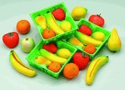Bergen Marzipan Fruit Basket 5pc 12ct